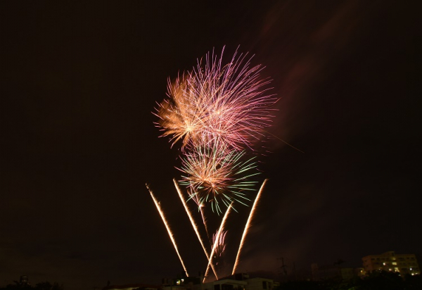 浦添市市制施行50周年記念事業花火イベント