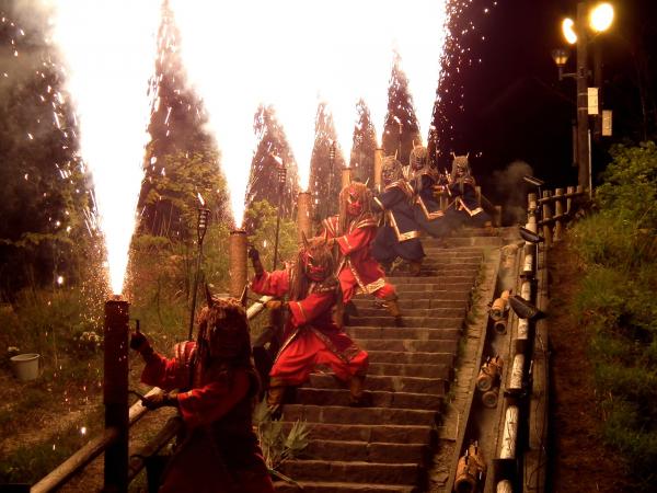 地獄の谷の鬼花火