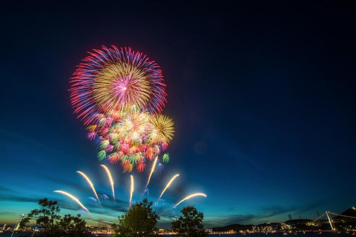 第32回関門海峡花火大会 - 「HANABITO」全国花火大会&祭り 有料 ...