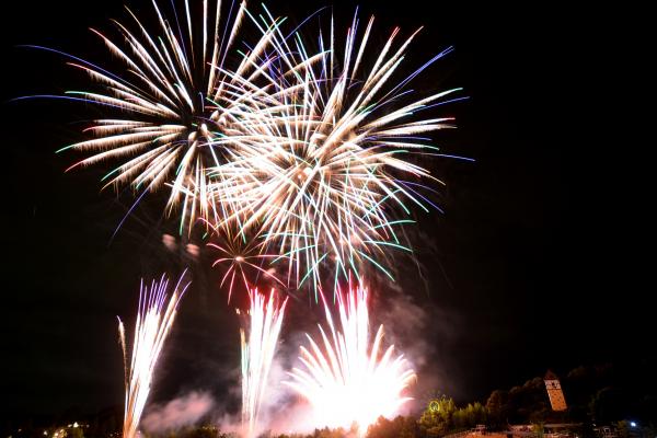 ハーベストの丘 花火イベント