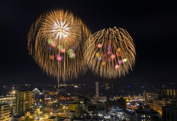 明治維新150周年記念 第18回かごしま錦江湾サマーナイト大花火大会