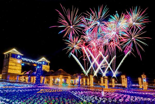 音と光の花火大会