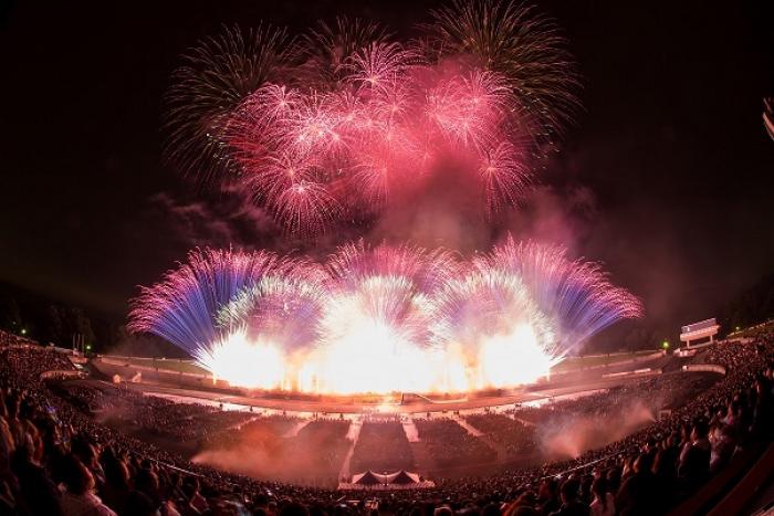 スタジアムの特徴を活かした演出!!