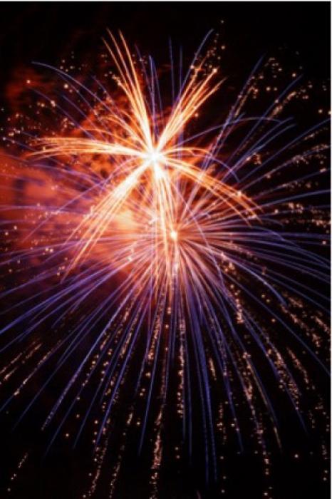 空から降ってくるような打ち上げ花火