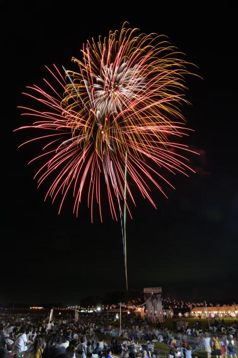 色鮮やかな大型花火!