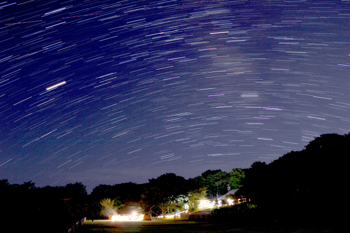 スカイランドおおぼらキャンプ場でみる夏の星空