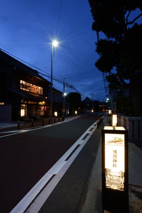切り絵行灯が幻想的に灯す流山本町のまちなみ